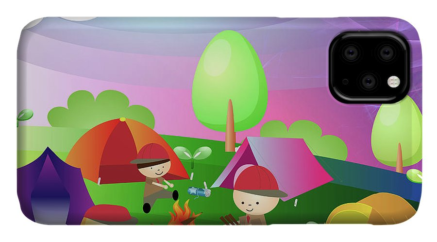 Adventure IPhone Case featuring the photograph Campfire At A Scout Camp by Fanatic Studio / Science Photo Library