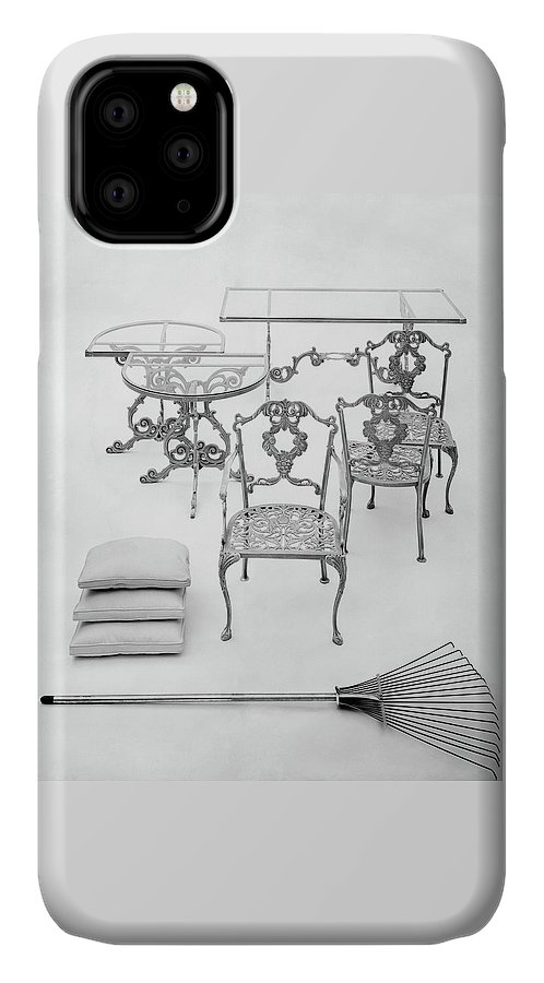 Furniture IPhone Case featuring the photograph Cast Aluminum Furniture By Molla by Haanel Cassidy