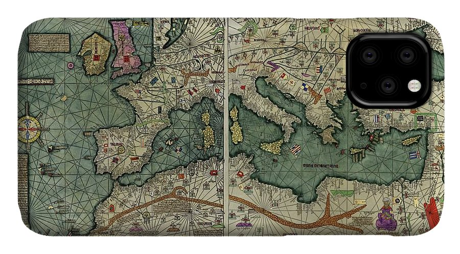 Catalan Atlas IPhone Case featuring the photograph Catalan Atlas by Library Of Congress/science Photo Library
