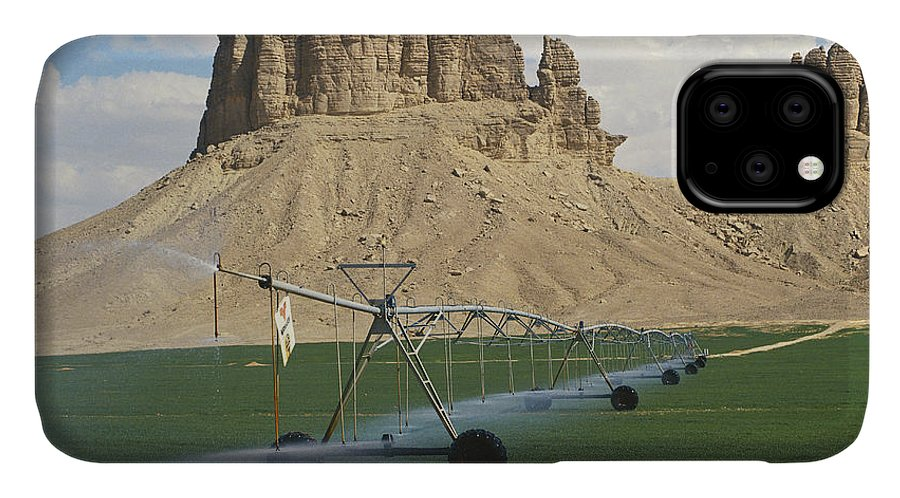 Agricultural IPhone Case featuring the photograph Center-pivot Irrigation, Saudi Arabia by Ray Ellis