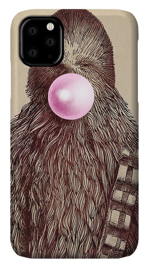Bubblegum IPhone Case featuring the drawing Big Chew by Eric Fan