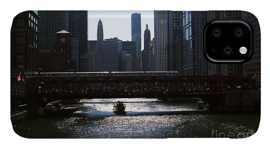 Cityscape IPhone Case featuring the photograph Chicago Morning Commute by Frank J Casella
