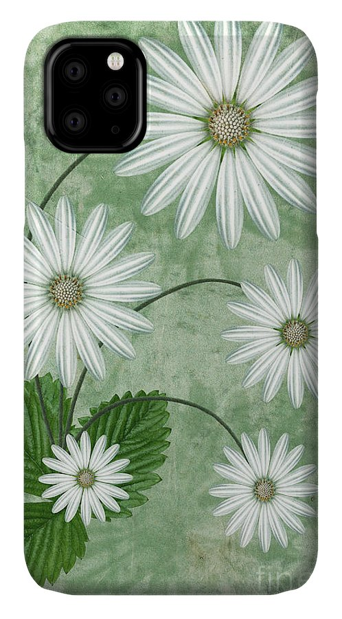 Abstract Flowers IPhone Case featuring the digital art Cinco by John Edwards