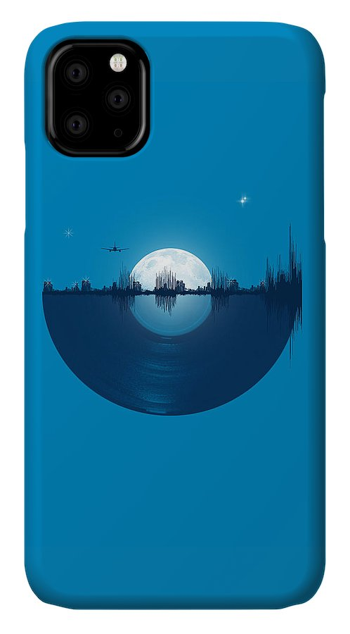 City IPhone Case featuring the digital art City tunes by Neelanjana Bandyopadhyay