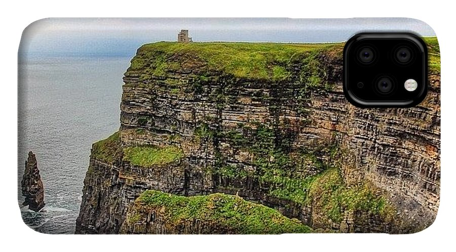 Europe IPhone Case featuring the photograph #cliffsofmoher #ireland #landscape by Luisa Azzolini