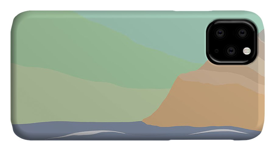 Coast IPhone Case featuring the painting Coastal Bank by Henry Manning