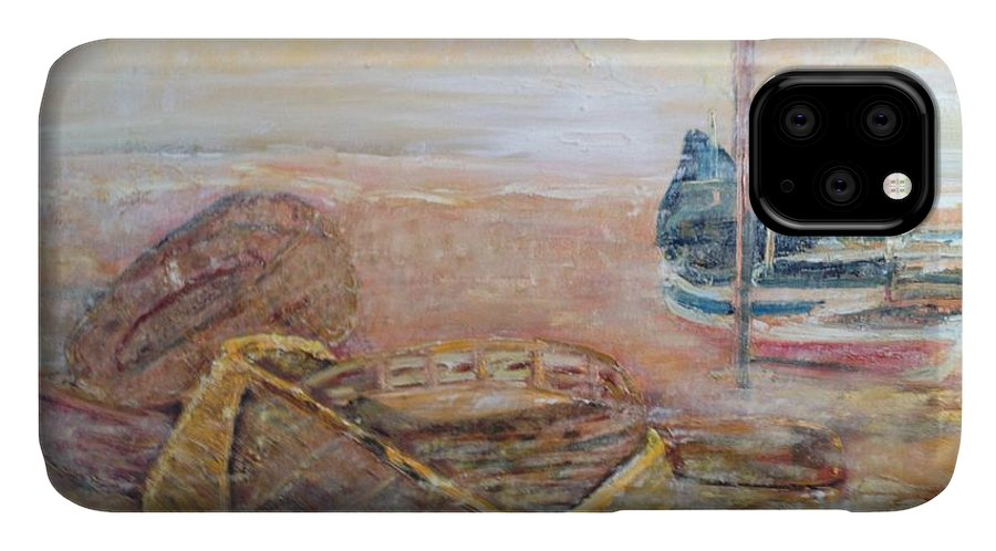Beach IPhone Case featuring the painting Colva by Peggy Blood