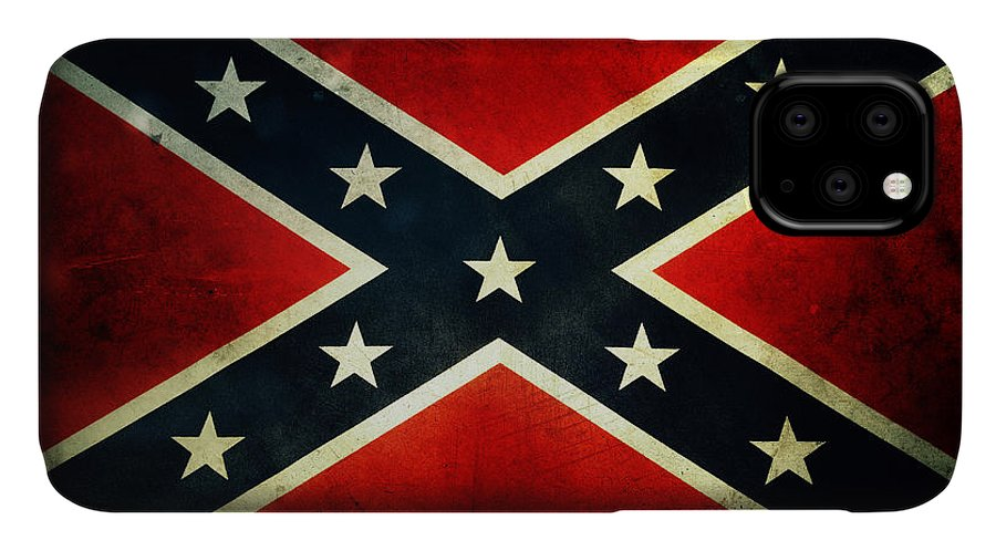 Flag IPhone Case featuring the photograph Confederate Flag 4 by Les Cunliffe