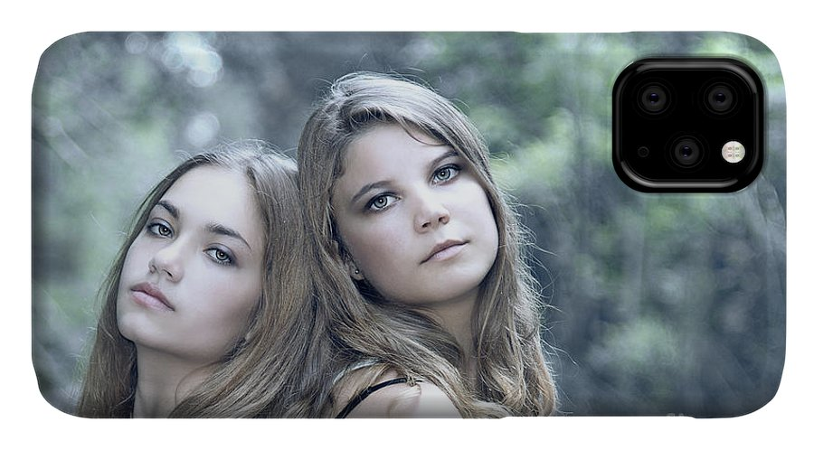 Girl IPhone 11 Case featuring the photograph Create Your Destiny by Evelina Kremsdorf