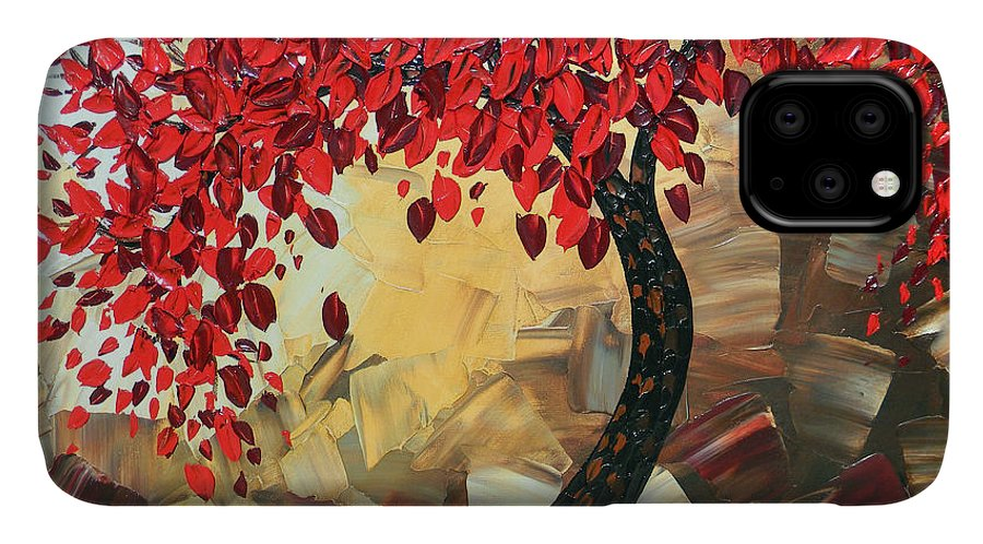 Art IPhone Case featuring the painting Crimson Beauty by Christine Bell