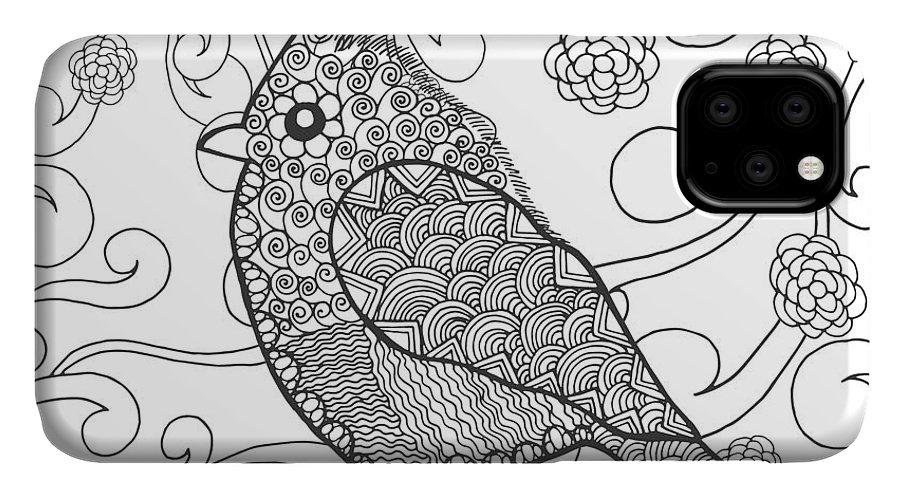 Fantasy flowers pattern iPhone 11 case