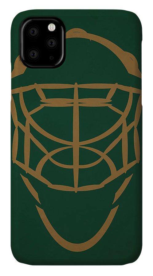 Stars IPhone Case featuring the photograph Dallas Stars Goalie Mask by Joe Hamilton