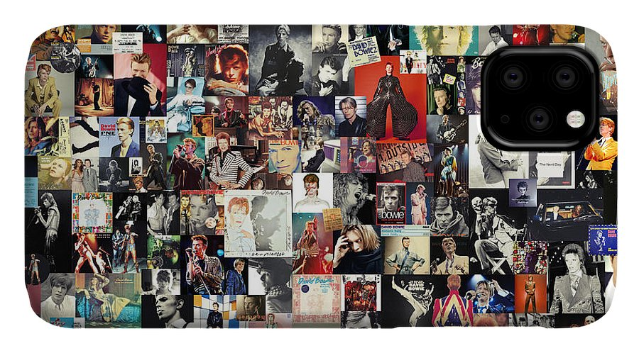 David Bowie IPhone Case featuring the digital art David Bowie Collage by Zapista OU