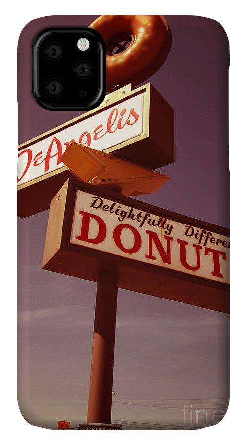 Deangelis IPhone 11 Case featuring the digital art Deangelis Donuts by Jim Zahniser