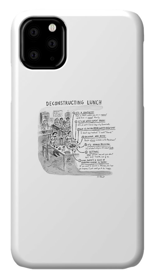 Deconstructing Lunch IPhone Case