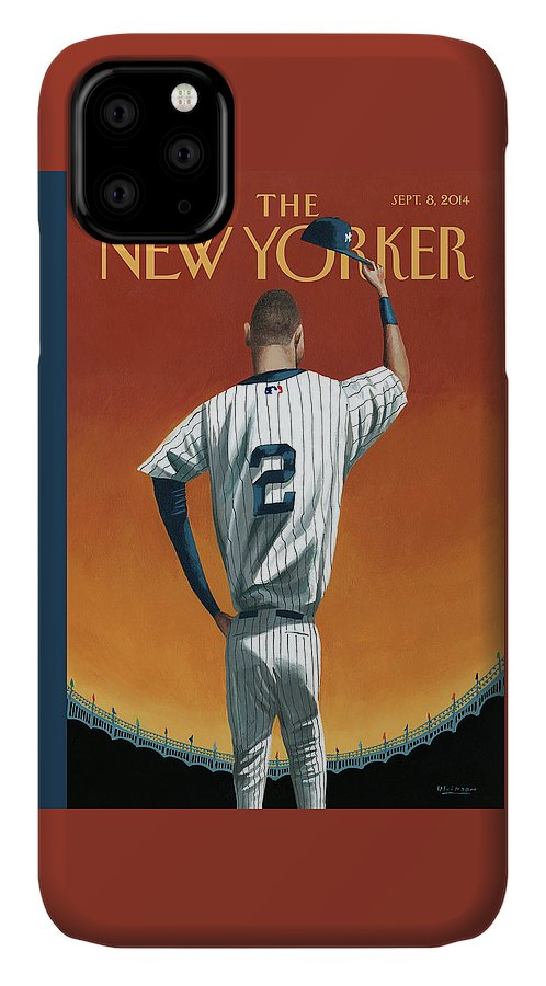 Retirement IPhone Case featuring the painting Derek Jeter Bows Out by Mark Ulriksen