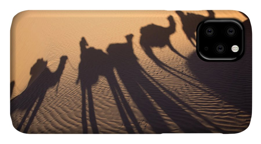 Desert IPhone 11 Case featuring the photograph Desert Shadows by Delphimages Photo Creations