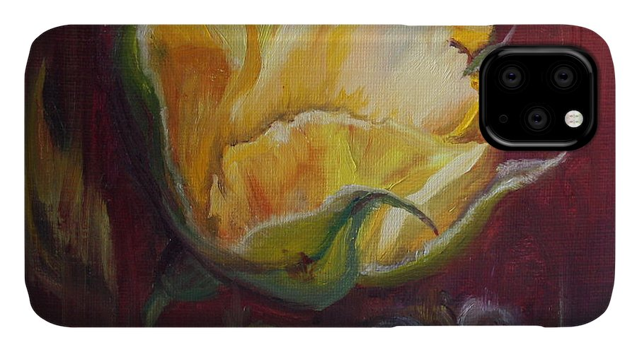 Rose IPhone Case featuring the painting Destiny by Mary Beglau Wykes