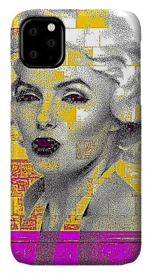 Marilyn IPhone Case featuring the photograph Digital Art Marilyn by HollyWood Creation By linda zanini