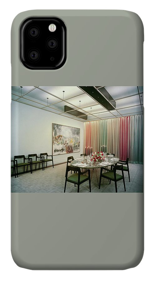 Dining Room IPhone Case featuring the photograph Dining Room In Mr. And Mrs. Williams A.m by Pedro E. Guerrero