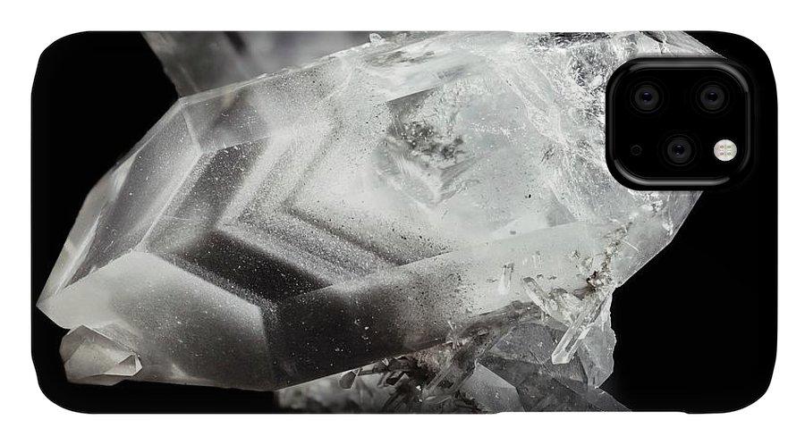 Quartz IPhone Case featuring the photograph Double-ended Quartz Crystal by Dr Juerg Alean