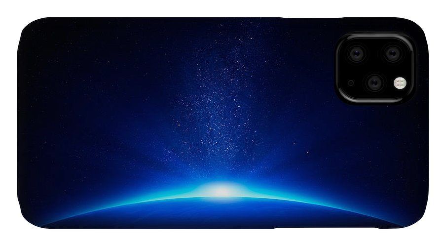 Earth IPhone 11 Case featuring the photograph Earth Sunrise In Space by Johan Swanepoel