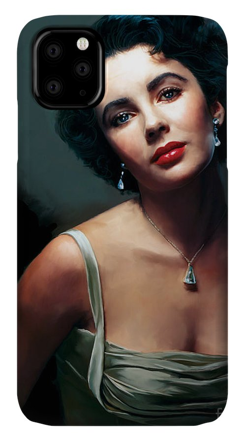 Elizabeth IPhone Case featuring the painting Elizabeth Taylor by Paul Tagliamonte