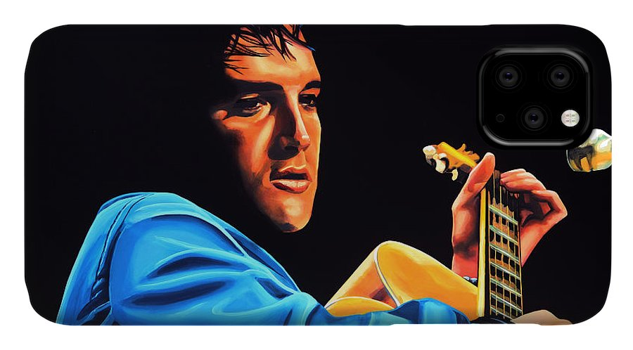 Elvis IPhone Case featuring the painting Elvis Presley 2 Painting by Paul Meijering