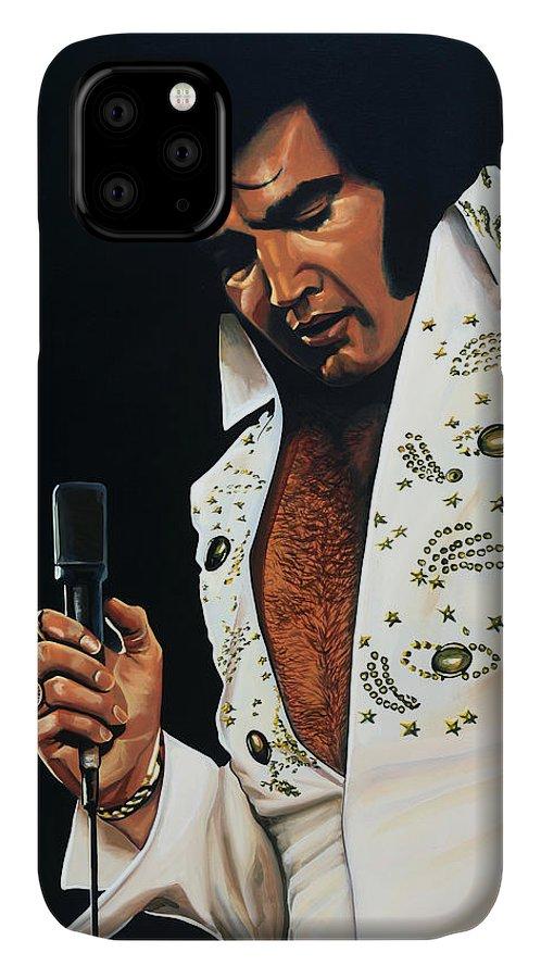 Elvis IPhone Case featuring the painting Elvis Presley Painting by Paul Meijering