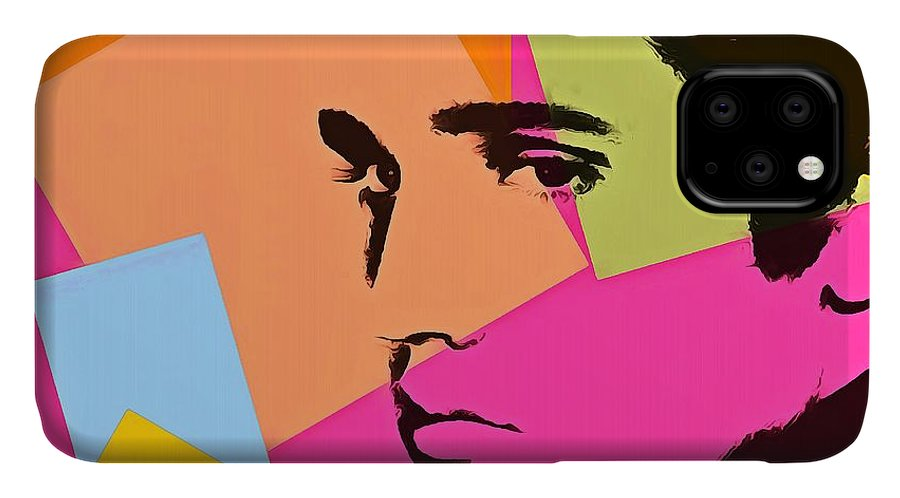 Elvis Presley Pop Art IPhone Case featuring the digital art Elvis Presley Pop Art by Dan Sproul