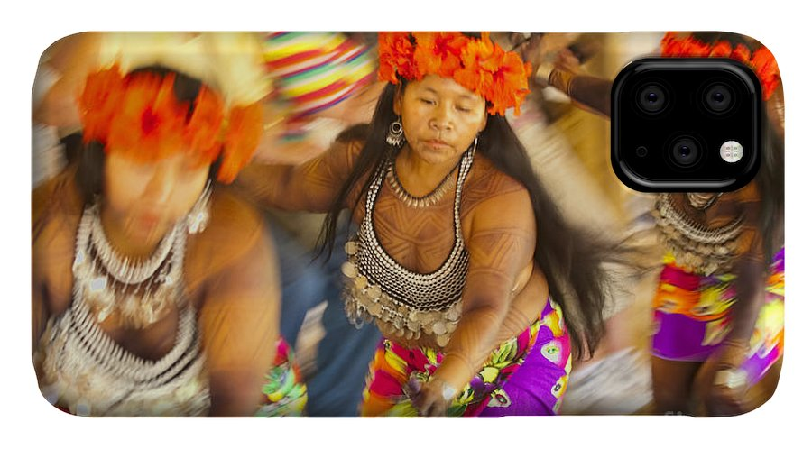 Embera IPhone 11 Case featuring the photograph Embera Villagers In Panama by David Smith