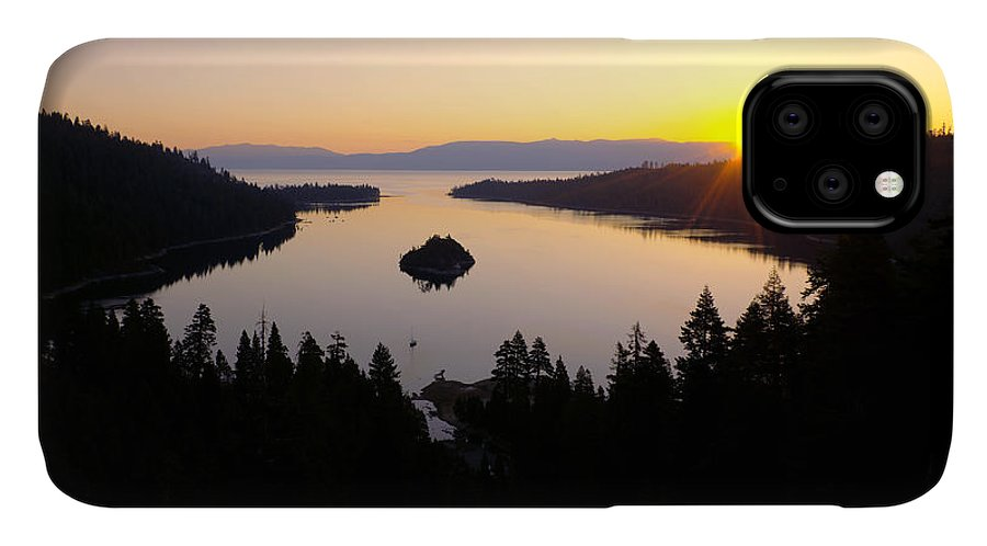 Lake IPhone Case featuring the photograph Emerald Dawn by Chad Dutson