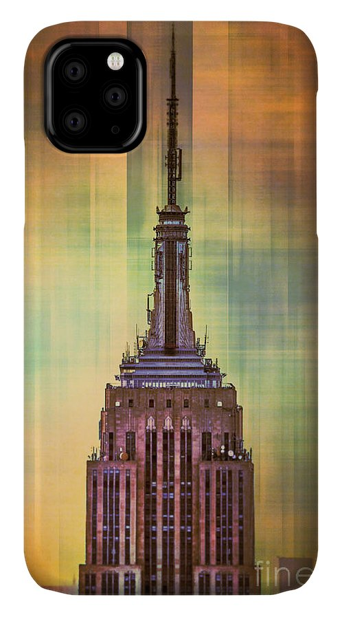 New York IPhone Case featuring the digital art Empire State Building 3 by Az Jackson
