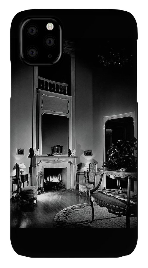 Fame IPhone Case featuring the photograph Entrance Hall Of Joan Bennett And Walter Wagner's by Maynard Parker