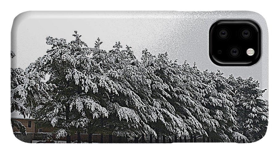 Illinois IPhone 11 Case featuring the photograph Evergreens In Snow by Luther Fine Art