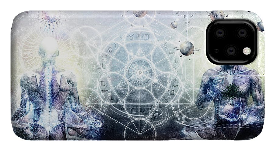 Spiritual IPhone Case featuring the digital art Experience So Lucid Discovery So Clear by Cameron Gray