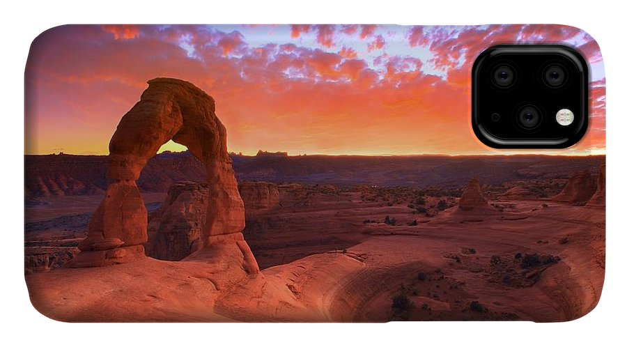America IPhone 11 Case featuring the photograph Famous Sunset by Kadek Susanto