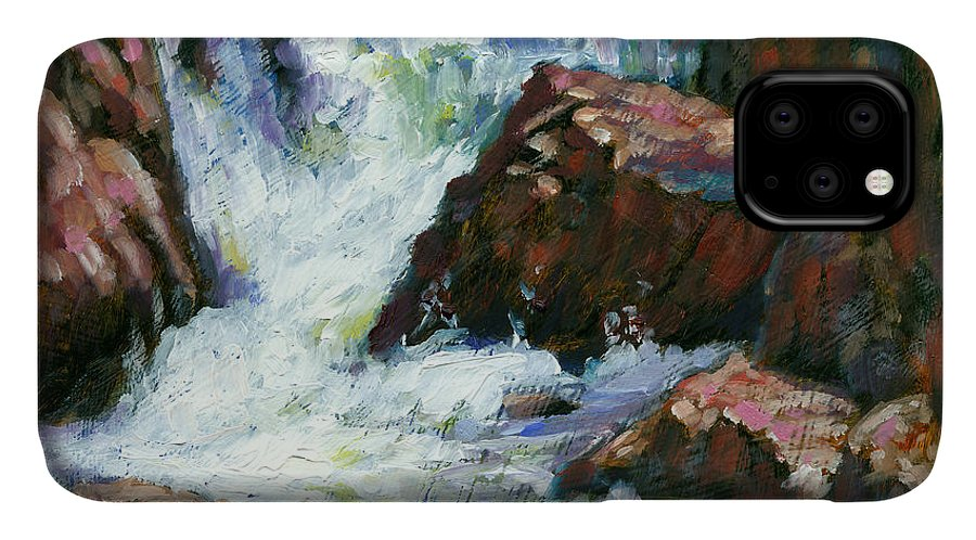 Colorado IPhone Case featuring the painting Fast Stream by John Lautermilch
