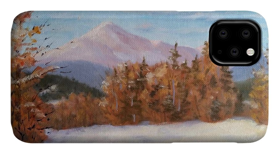 Mt Washington IPhone Case featuring the painting February At First Bridge by Sharon E Allen