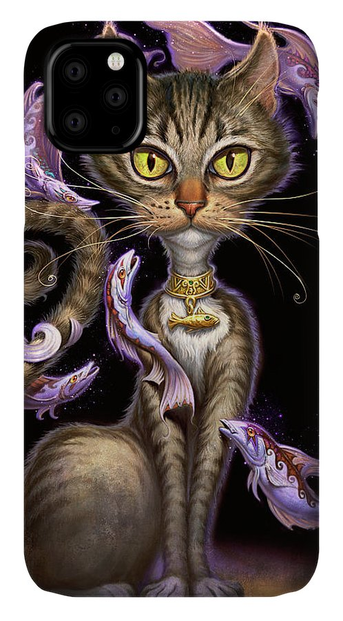 Jeff Haynie IPhone Case featuring the painting Feline Fantasy by Jeff Haynie