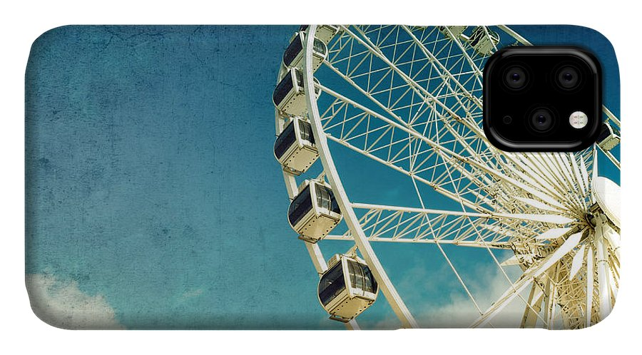 Wheel IPhone Case featuring the photograph Ferris wheel retro by Jane Rix