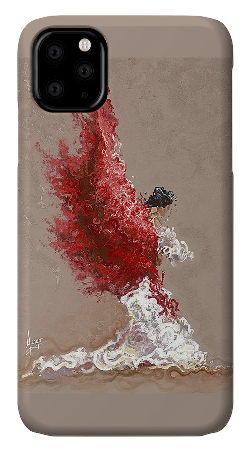 Dance IPhone Case featuring the painting Fire by Karina Llergo