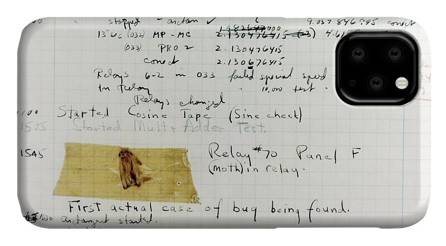 Animal IPhone Case featuring the photograph First 'computer Bug' by Us Navy, Us Naval Historical Center
