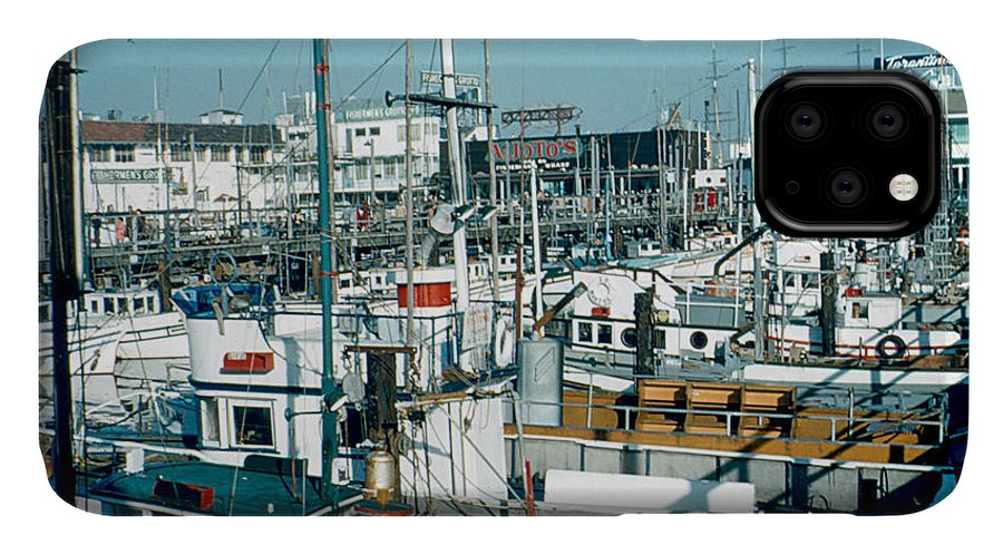 Fisherman's Wharf IPhone Case featuring the photograph Fisherman's Wharf 1956 by Cumberland Warden