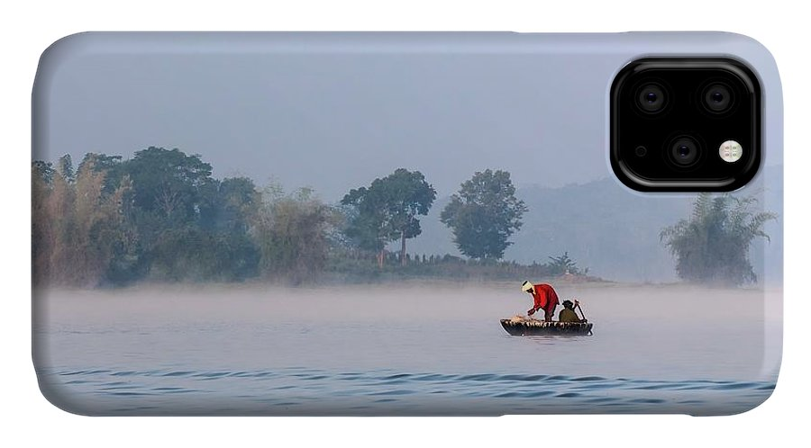 Asia IPhone Case featuring the photograph Fishing At Dawn by K Jayaram