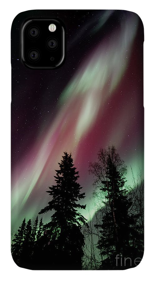 Northern Light IPhone Case featuring the photograph Flowing Colours by Priska Wettstein