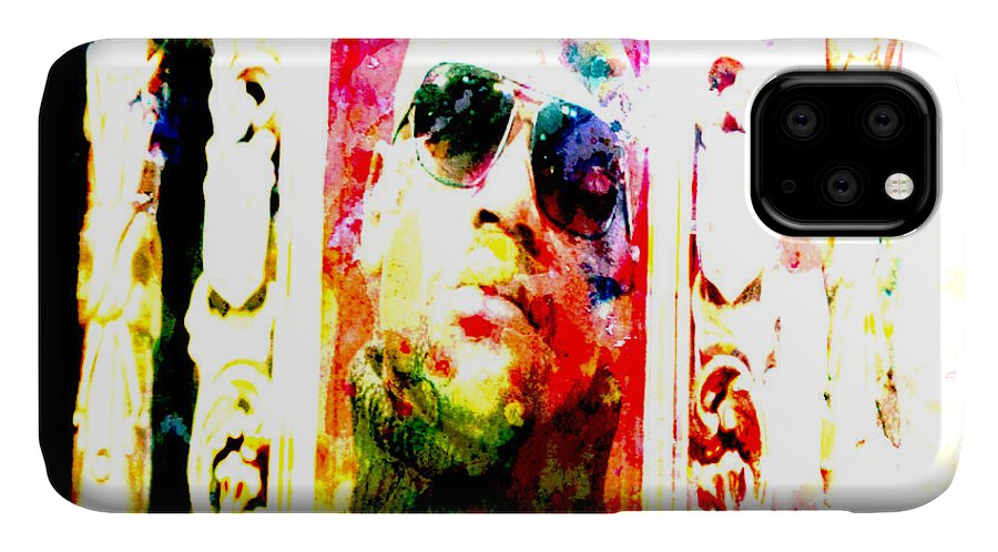 Floyd Mayweather IPhone Case featuring the digital art Floyd Mayweather Big Time by Brian Reaves