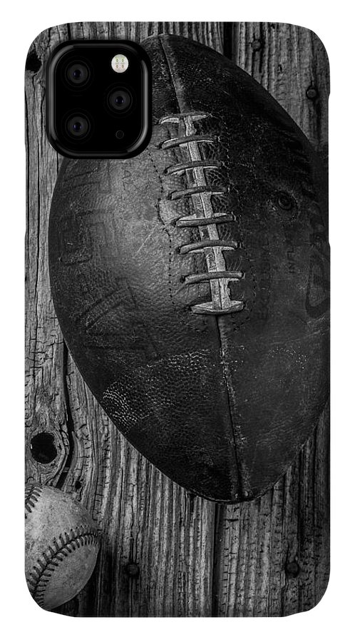 Old IPhone Case featuring the photograph Football And Baseball by Garry Gay