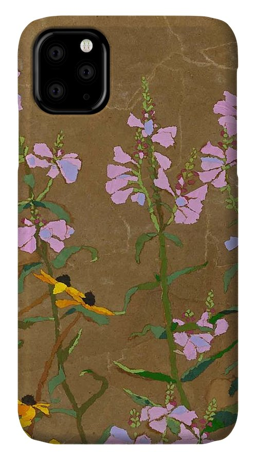 Floral IPhone Case featuring the painting For Jack From Woodstock by Leah Tomaino