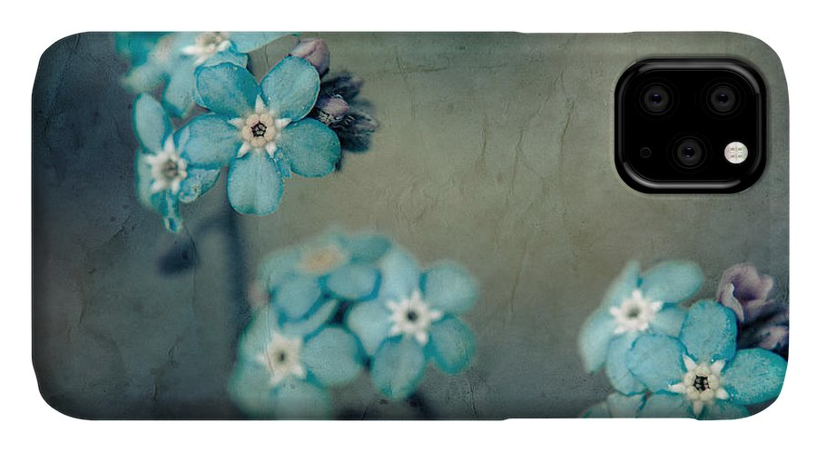 Blue IPhone 11 Case featuring the photograph Forget Me Not 01 - S22dt06 by Variance Collections